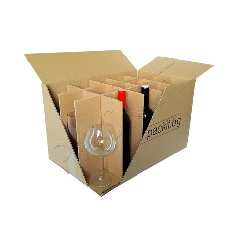 "Glass cardboard box ""M"""