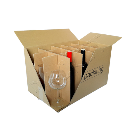 "Five-ply cardboard box ""M"" (glasses)"