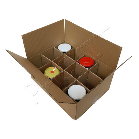 Jar box with dividers (12 jars capacity)