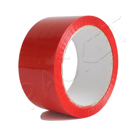 Red packing tape