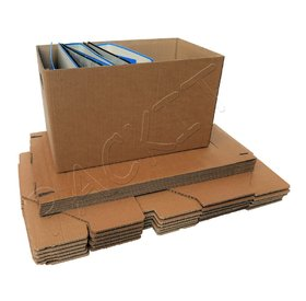 Cardboard box with lid and handles