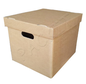 Cardboard box with lid and handles (small)